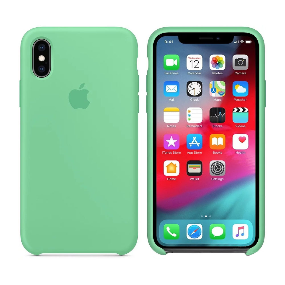 Чехол IPhone XS Max Silicon Case MVF82ZM/A Spearmint